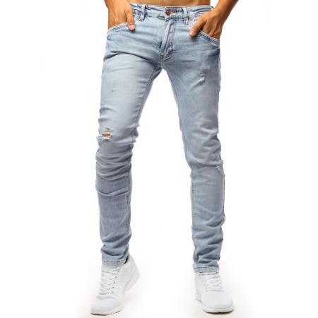 0e03a3dcb748 Pánske jeans nohavice STYLE svetlo modré