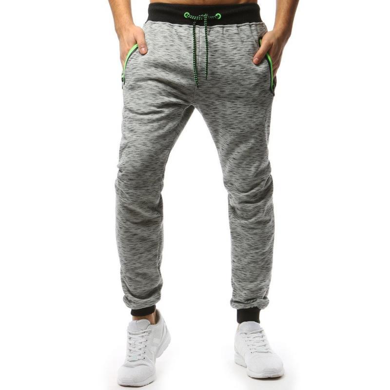 Pánske STYLE nohavice tepláky svetlo šedej  fddc9367e62