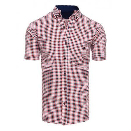Pánska košeľa mriežkovaná s krátkym rukávom KX0926