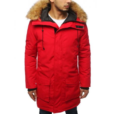 Pánska bunda parka zimná červená