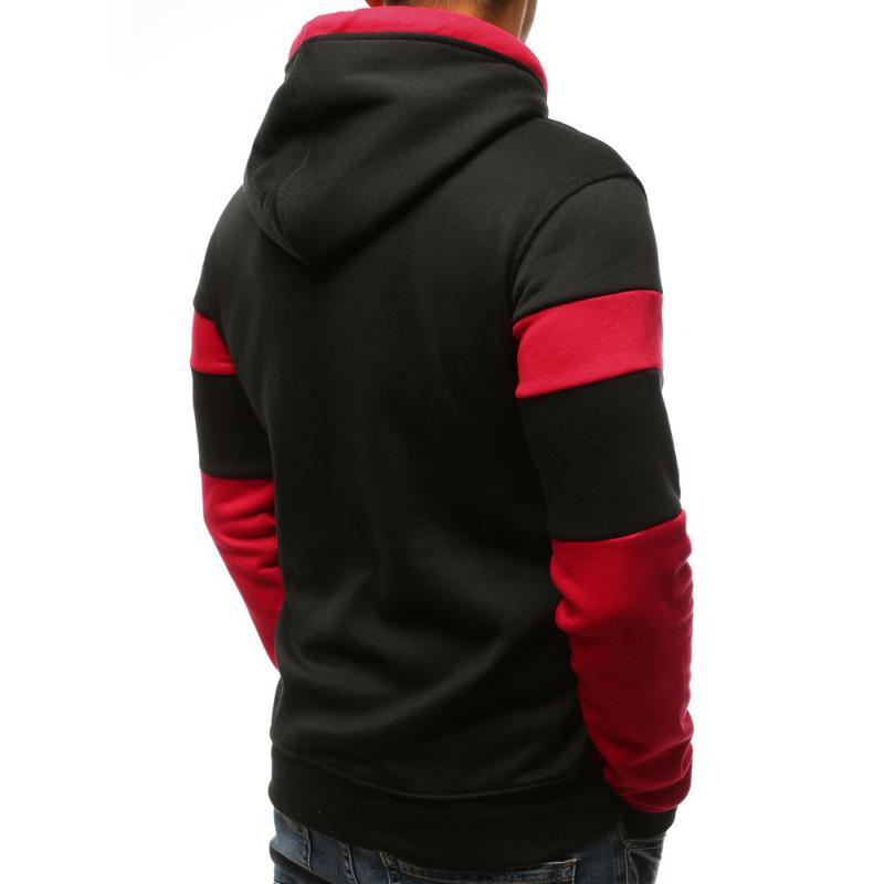 Pánsky elegantný mikina s potlačou čierno-červená  6f0249b6e7f