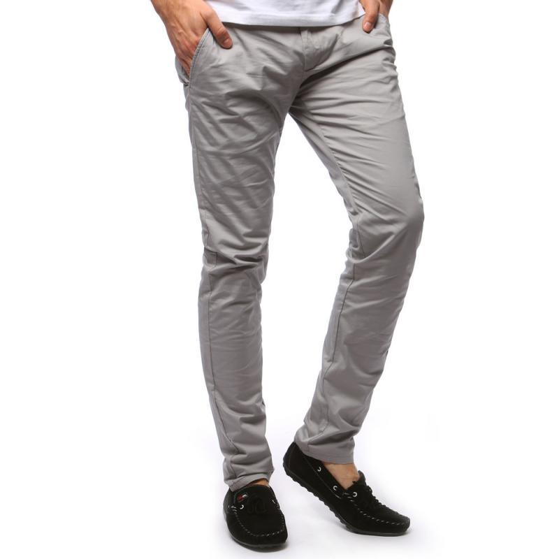 d8e2290af4b2 Pánske STYLE chino nohavice šedé