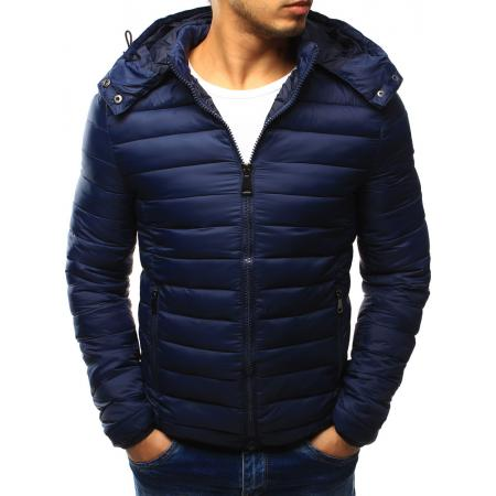 Pánska originálne zimná bunda modrá