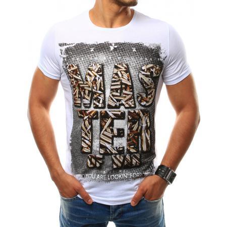 Pánska tričko s potlačou bielej