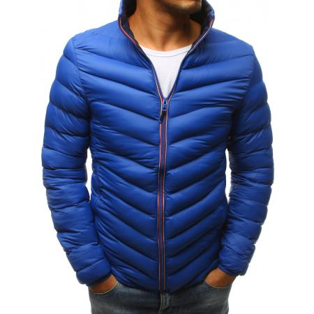 Pánska zimná prešívaná bunda modrá