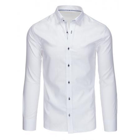 Elegantný panská košele biela s dlhým rukávom