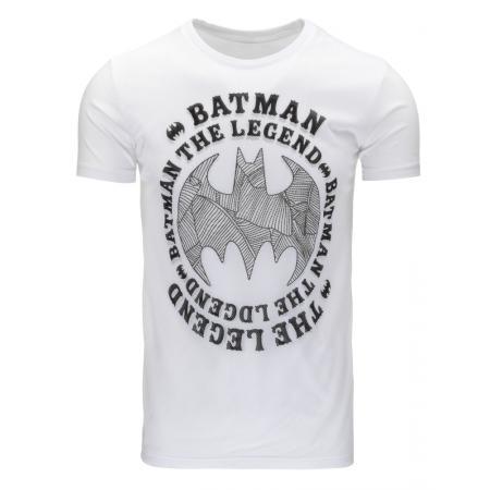 ad237adafa01 Pánske tričko s potlačou (tričko) Batman biele