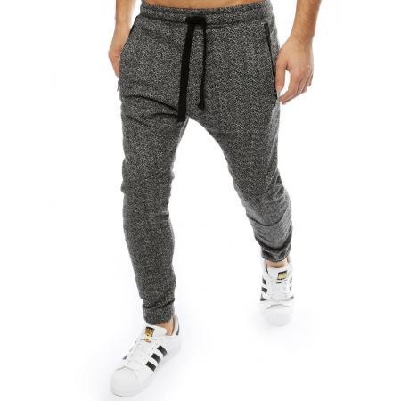 Pánske nohavice jogger tmavo šedé