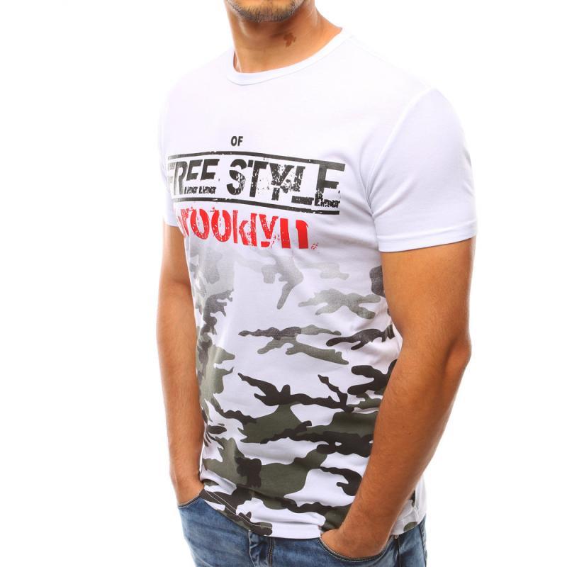 Pánske biele tričko s potlačou STYLE  466e58a999d