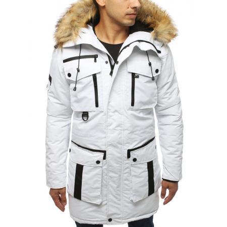 Pánska bunda zimná biała
