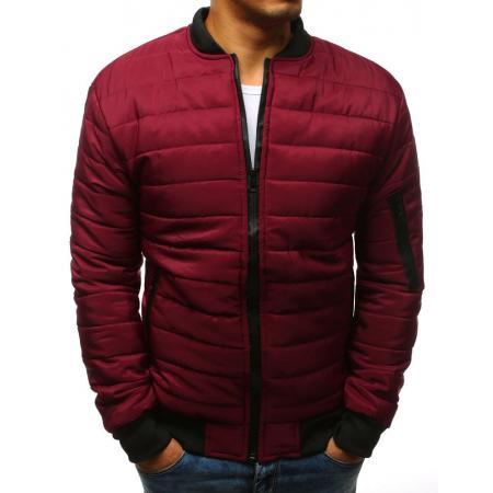Pánska NEWSTYLE bunda prešívaná bomber jacket červená