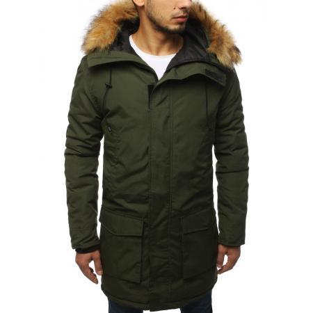 Pánska bunda parka zimná zelená