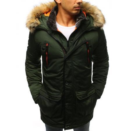 Pánska bunda zimná zelená tx3502