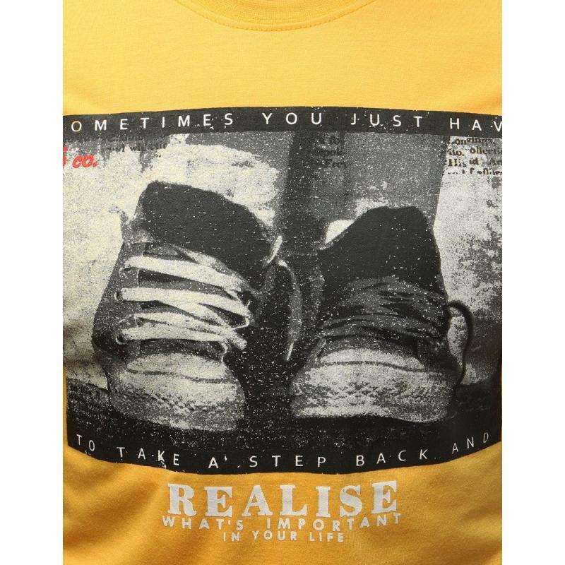 dbb1bc5c8f17 Pánske ORIGINAL tričko s potlačou žltej