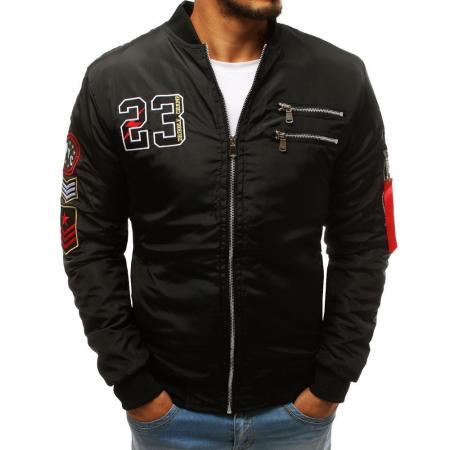 Pánska SPRING bunda bomber jacket čierna