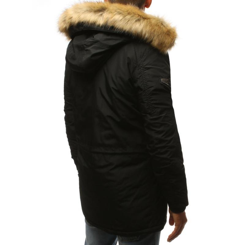 Pánska zimná parka bunda čierna  38c1990c0e5