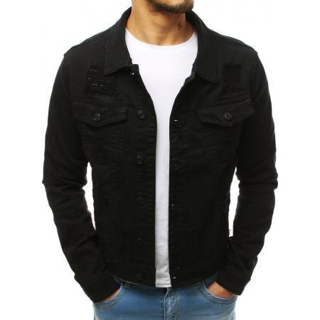 Pánska džínsová bunda čierna