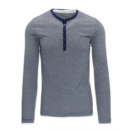 Pánske tričko (Longsleeve) s dlhým rukávom tmavo modré