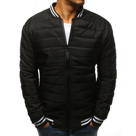 Pánska NEWSTYLE bunda prešívaná bomber jacket čierna