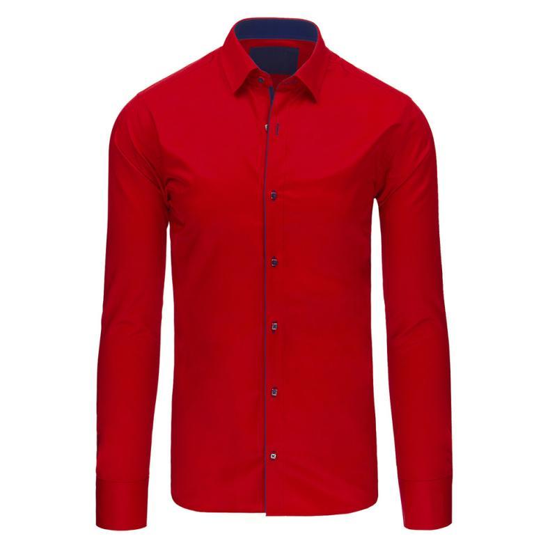 1f042b248180 Pánska štýlová košele červená