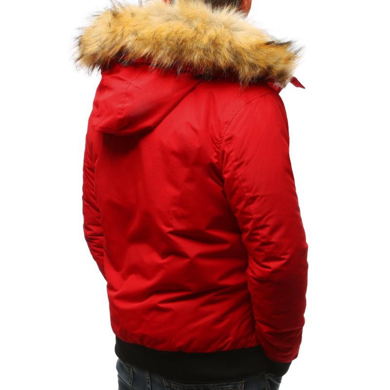 Pánska zimná červená bunda  173599bb7dd