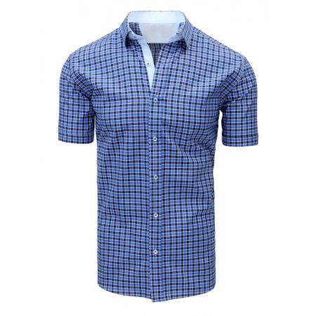 624d8624b684 Pánska ELEGANT košeľa odobrať ako bielo-tmavo modrá