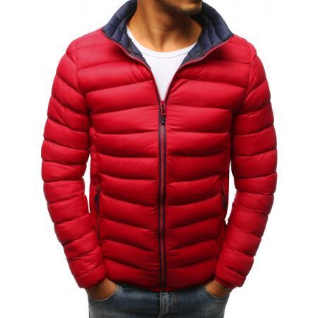 Pánska zimná prešívaná bunda červená