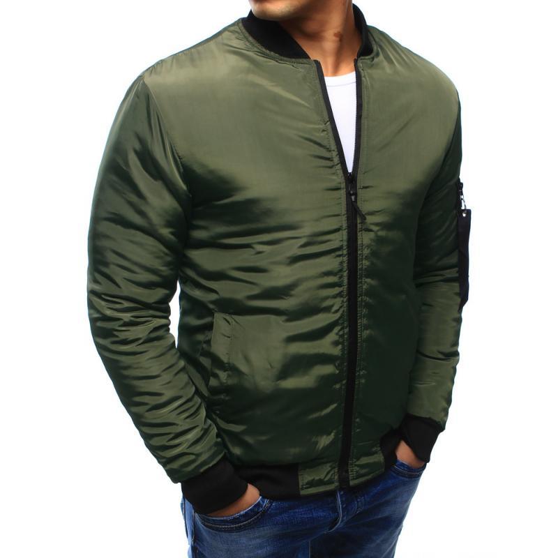 Pánska bunda bomber jacket zelená  afa1c750d9b