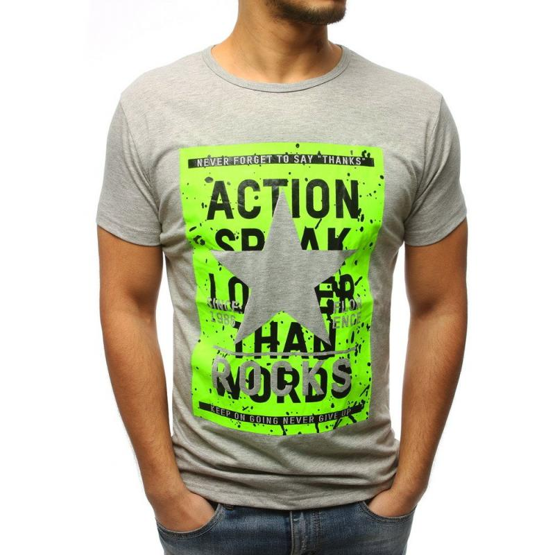 918f1be1744f Pánska tričko CHOICE s potlačou šedej