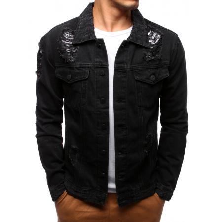 Pánska bunda džínsová čierna