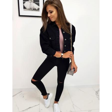 Bunda dámska jeansová čierna