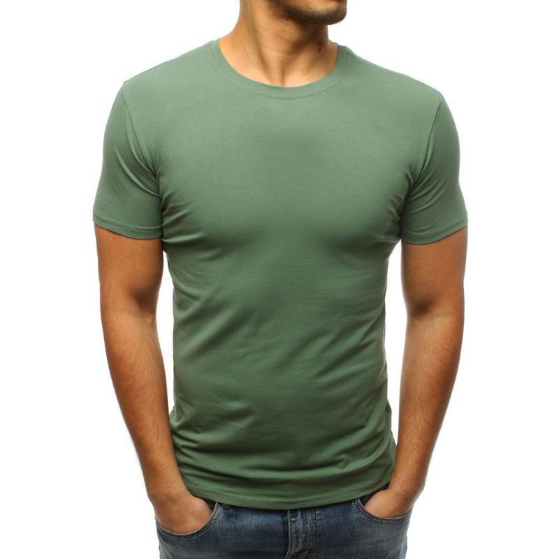 bc14469a0b040 Pánske jednofarebné tričko STYLE zelené | manSTYLE.sk
