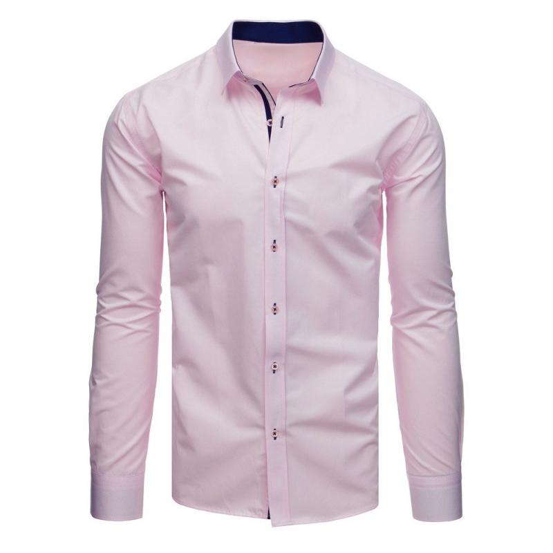 0d771e70818a Pánska elegantná košeľa so vzorom ružová