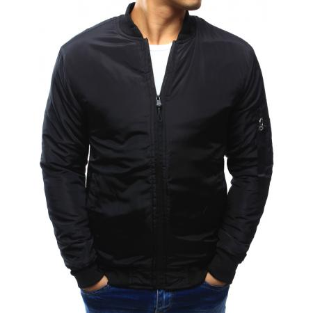 Pánska bunda bomber jacket čierna