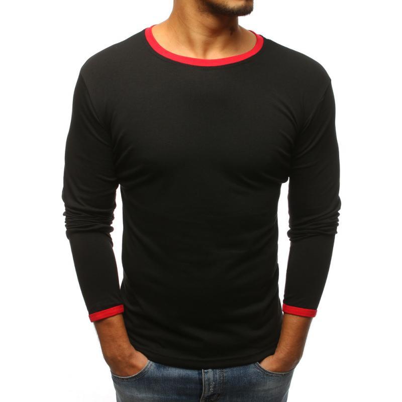 1c66fc61a34d Pánske čierne tričko s dlhým rukávom