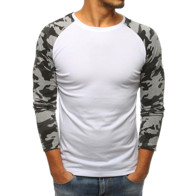 12ade025ebe8 Pánske biele tričko s dlhým rukávom