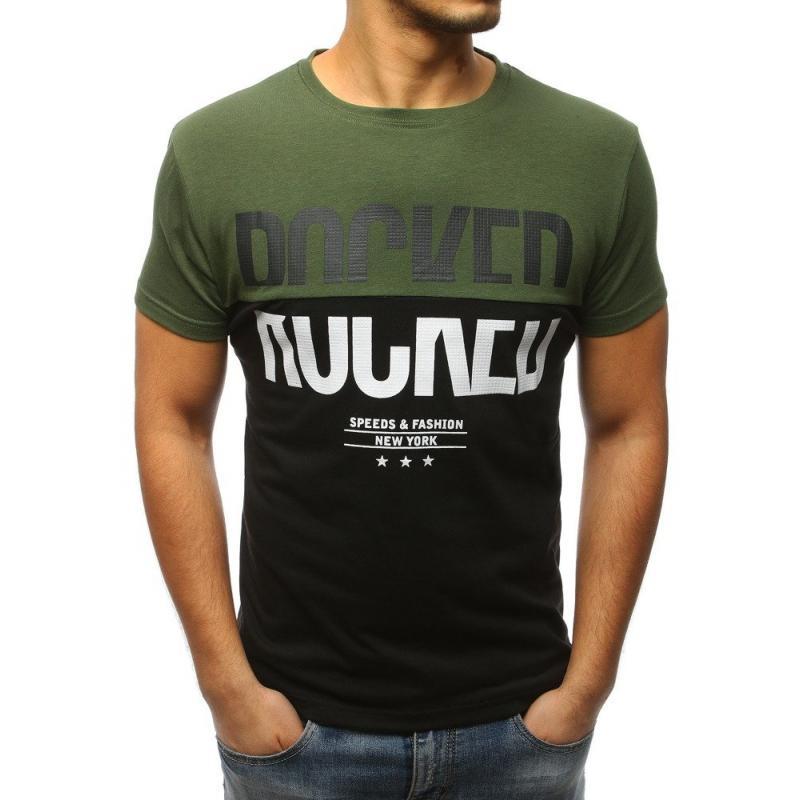 81e8d675cf4e Pánska tričko MODERN s potlačou zelené