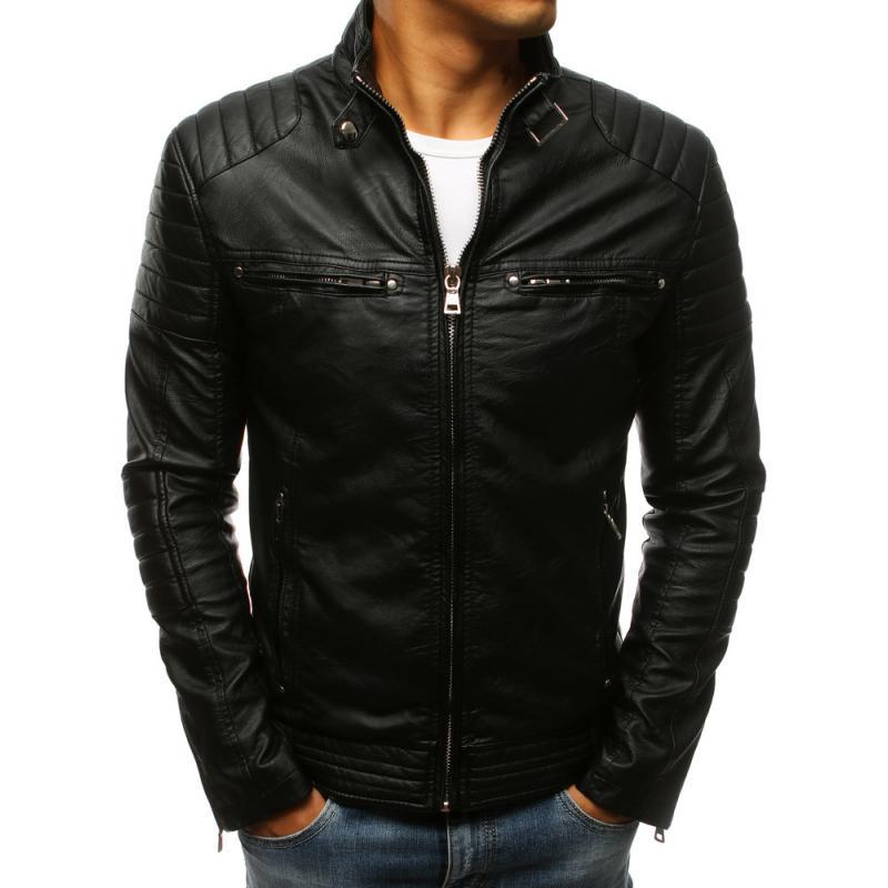 Pánska bunda koženka čierna  74c9c17322c