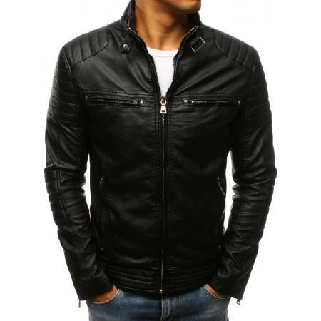 Pánska bunda koženka čierna 2289e36f25c