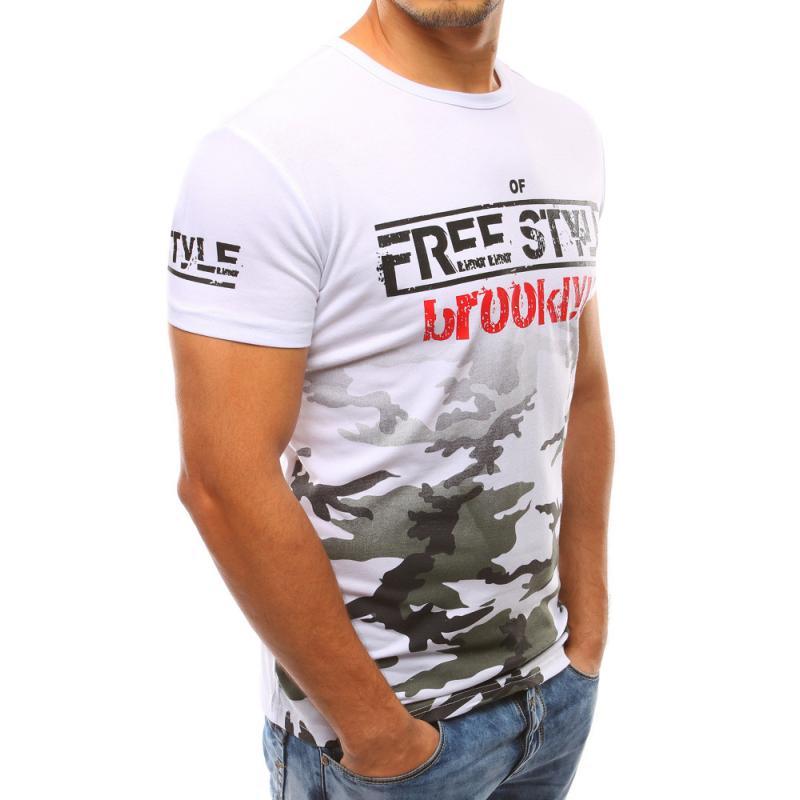 Pánske biele tričko s potlačou STYLE  0daeb9853f2