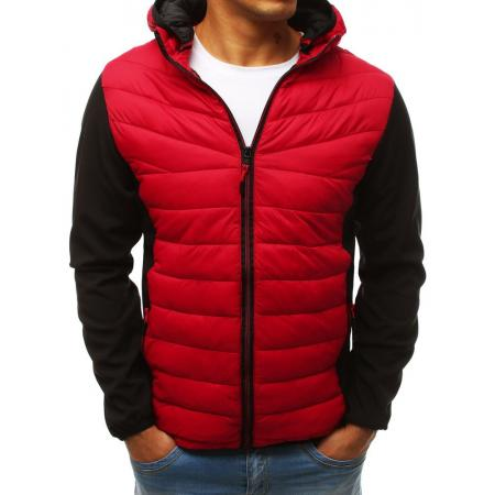 Pánska bunda prechodová jesenná / jarná prešívaná červená
