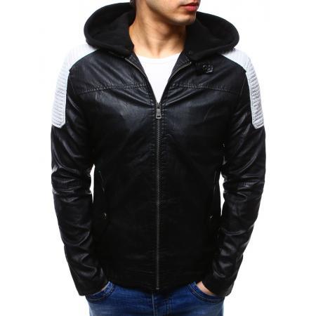 Pánska bunda skórzana čierna