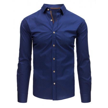 a8fd87365c6b Pánska STYLE košeľa elegantná sa vzormi tmavo modrá