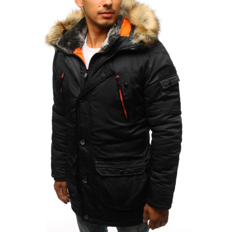 a29c9a1627f2 Pánska zimná bunda čierna