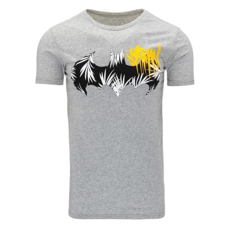 0913b421b607 Pánske tričko s potlačou (tričko) Batman šedej