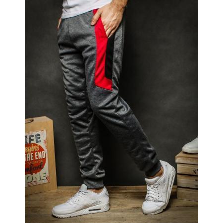 Pánske nohavice tepláky tmavo šedé UX2272
