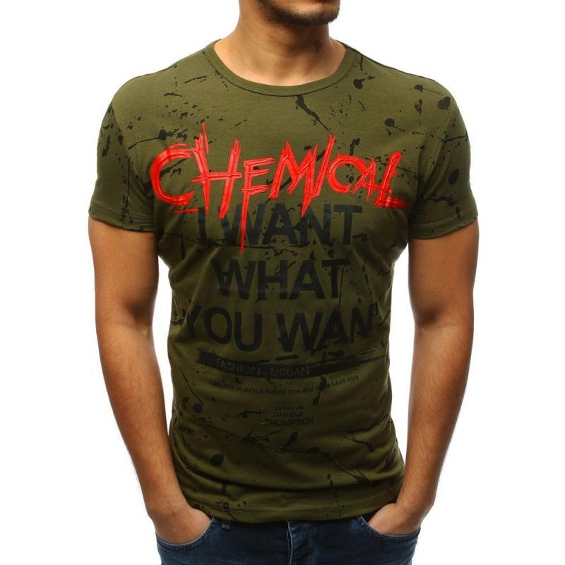 a78daeaf9397 Pánske tričko s potlačou zelenej