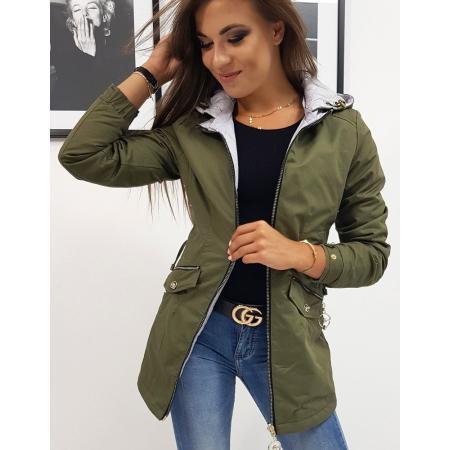Obojstranná bunda dámska LECCO zelená