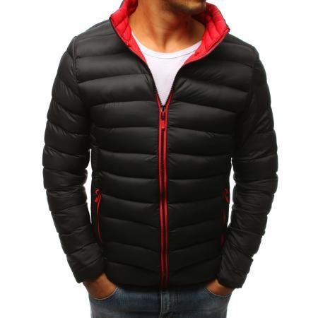 Pánska zimná prešívaná bunda čierna