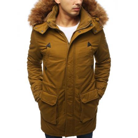 Pánska bunda parka zimná hnedá TX3055